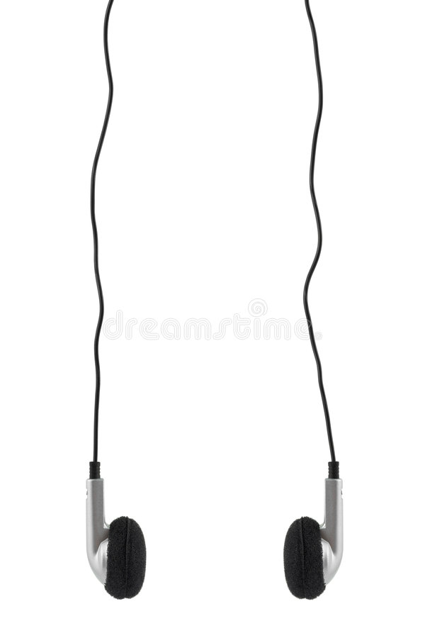 Earphones and cable stock photos