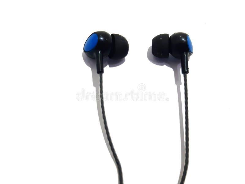 Earphones Listening Music Make Happy royalty free stock photo