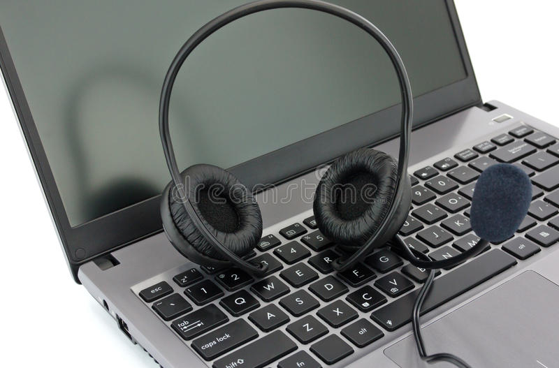 Download Earpiecess With A Microphone Stock Photo - Image: 25948390