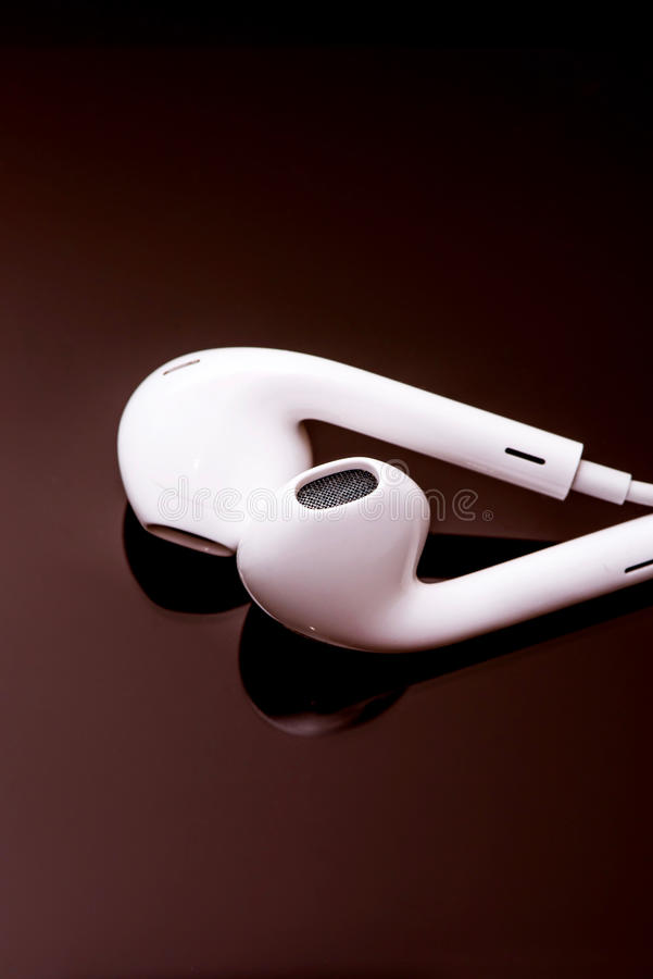 EarPods fotografia de stock royalty free