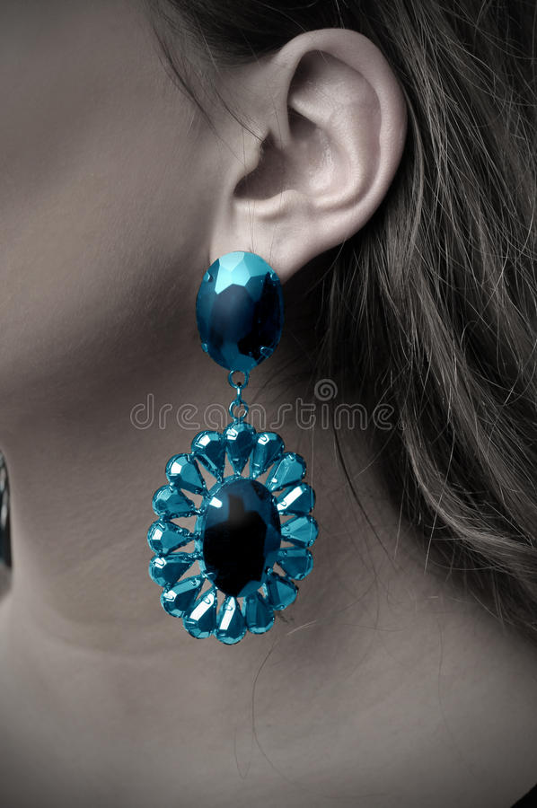 Download Earring stock image. Image of sapphire, blue, fashion - 17746113