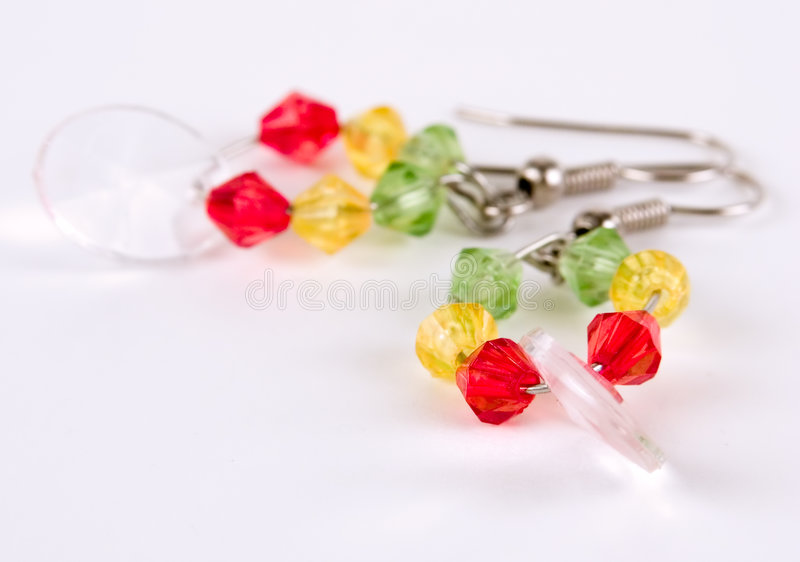 Download Earring Against White Background Stock Photo - Image: 519422