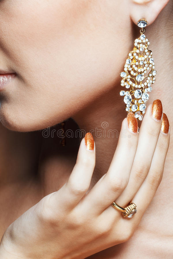 Earring stock image