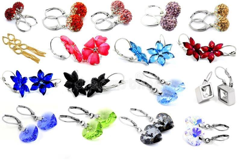 earring Jóia das mulheres fotografia de stock