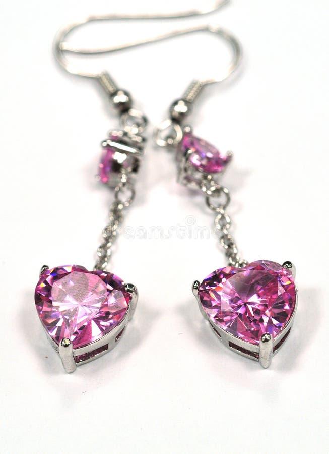 Earring jewelry. Pattern , crystal jewelry stock photo