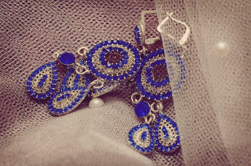 earrings imagem de stock royalty free