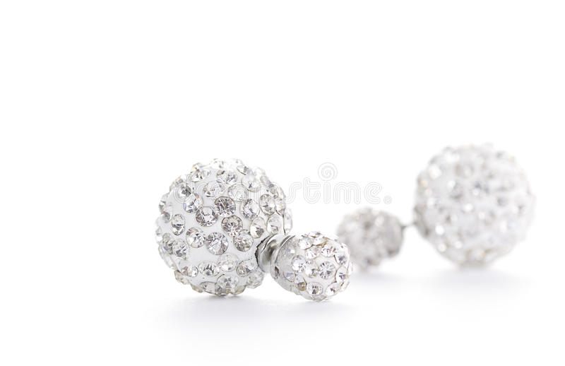 Earrings. Isolated on white background royalty free stock images