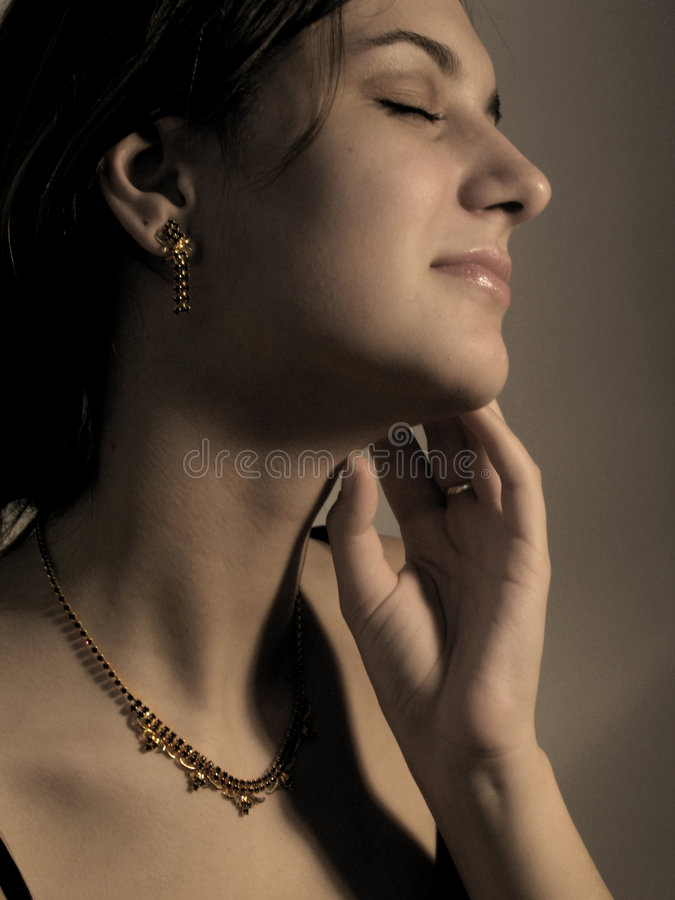 Earrings and necklace royalty free stock photo