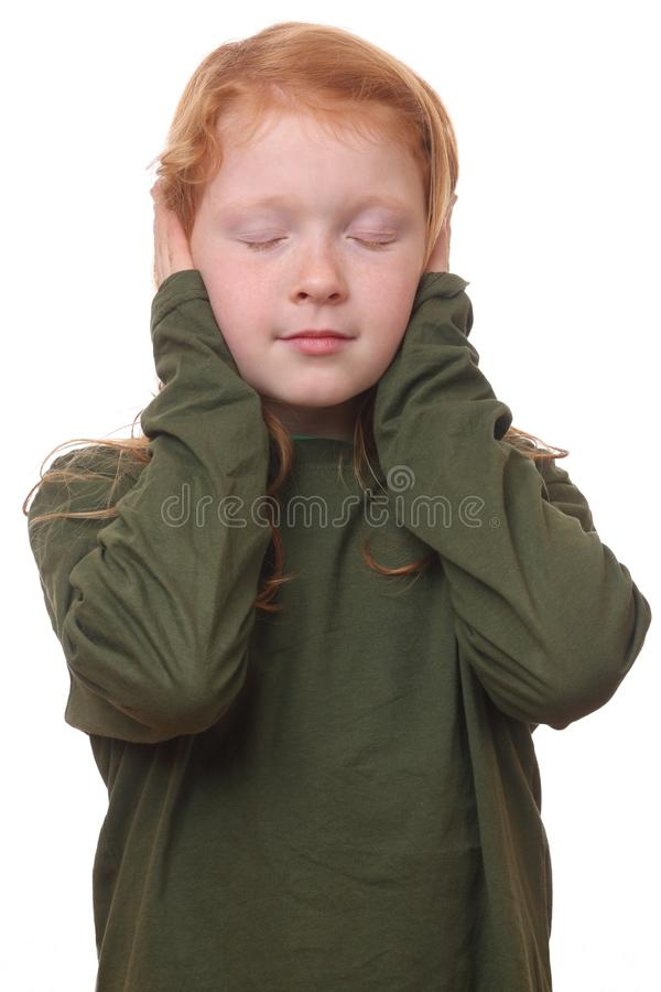 Download Ears covered stock photo. Image of hurt, face, head, child - 28041000