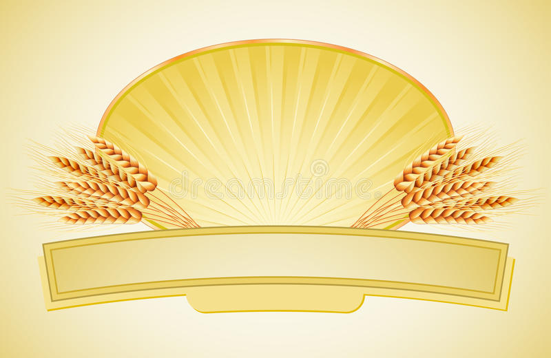 Download Ears of wheat and label stock vector. Image of ripe, cuisine - 15531976