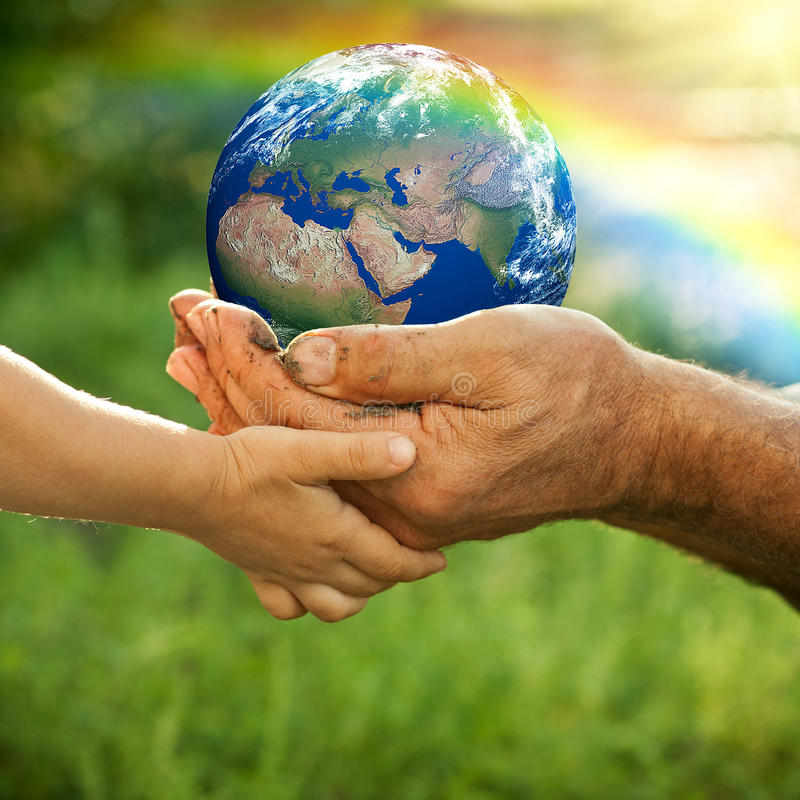 Download Earth stock illustration. Image of holding, people, planet - 23563367