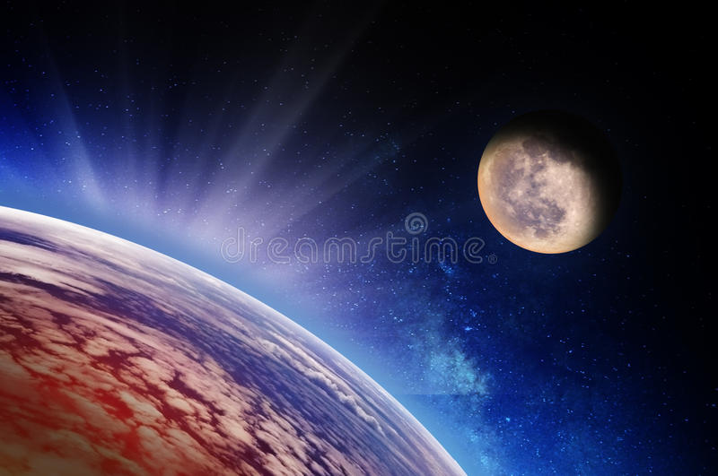 Download Earth stock illustration. Illustration of light, astronomy - 25810303