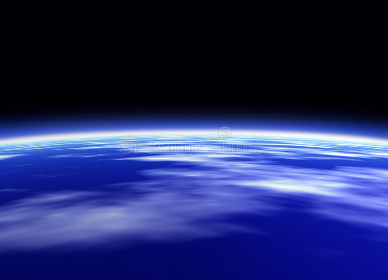Download Earth stock illustration. Image of stratosphere, blue, planet - 28318