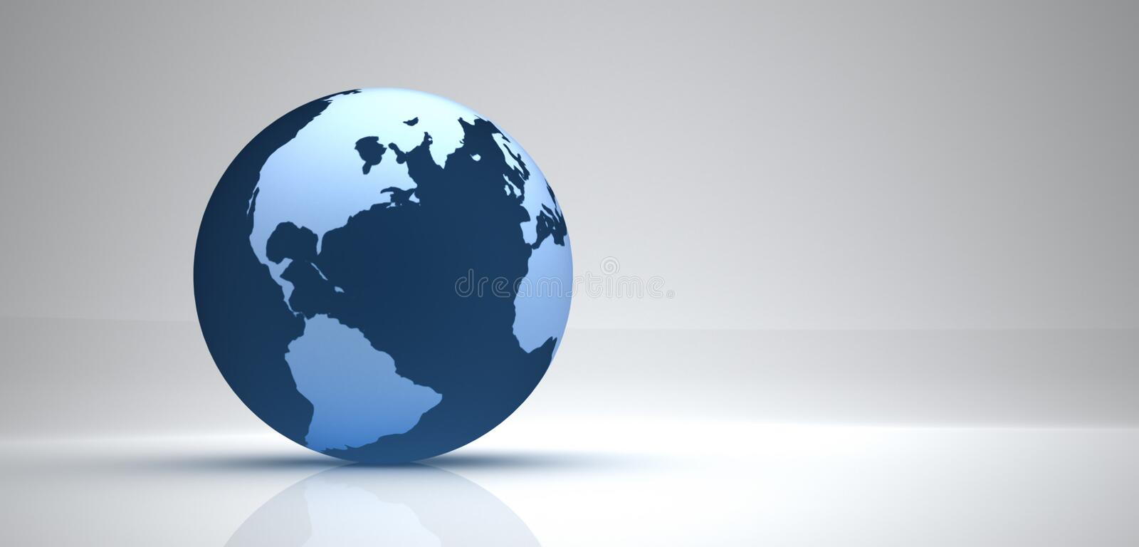 Earth. 3d earth illustration with white background