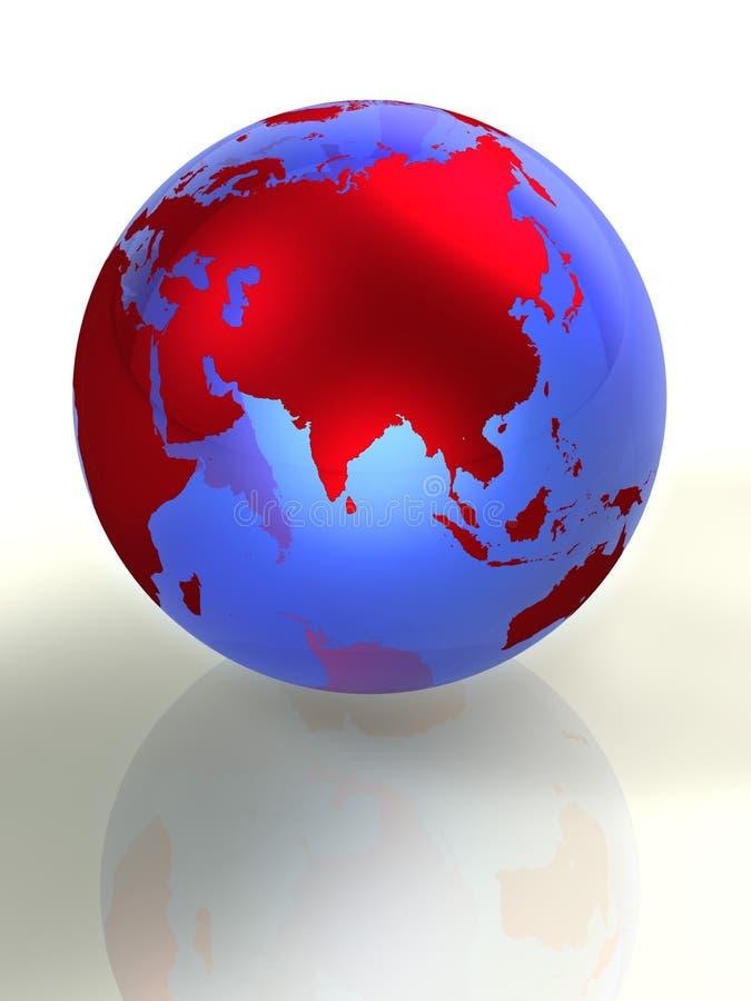 Earth 3d vector illustration