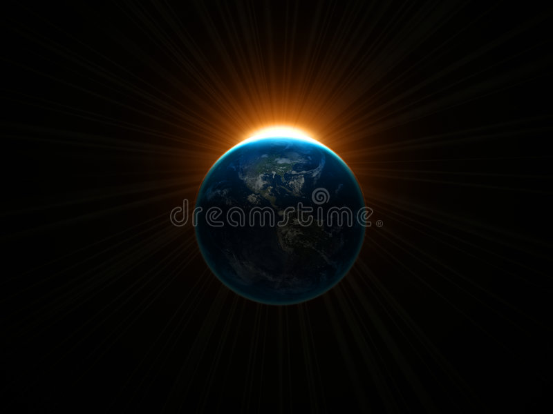 Download Earth stock illustration. Image of solar, cloud, science - 633024