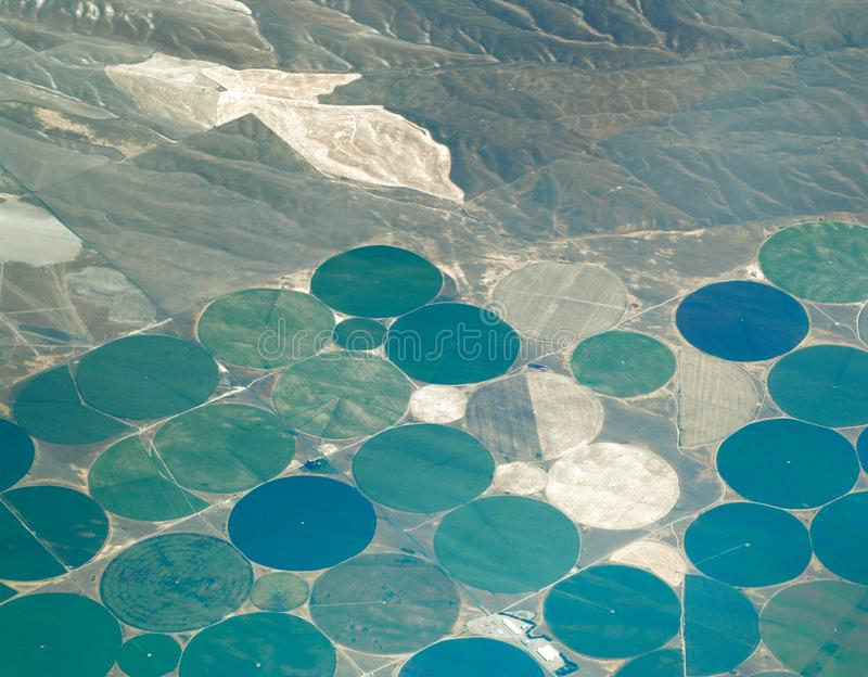 Center Pivot Irrigation agriculture royalty free stock photos