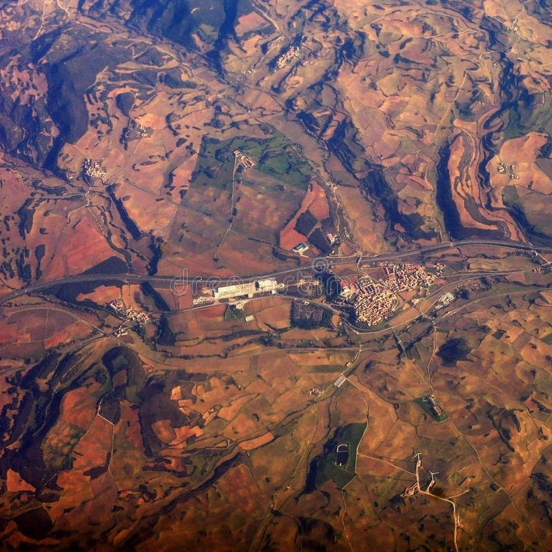 Earth From The Air Royalty Free Stock Images