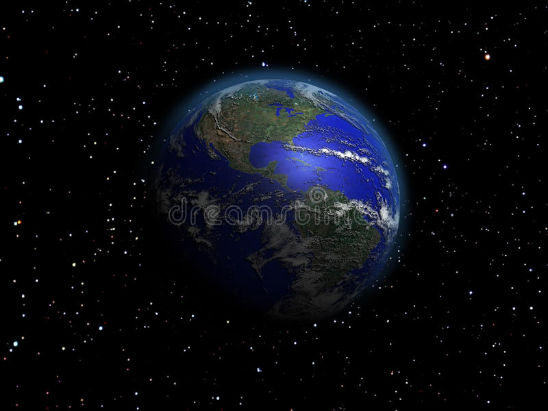 Earth alone vector illustration