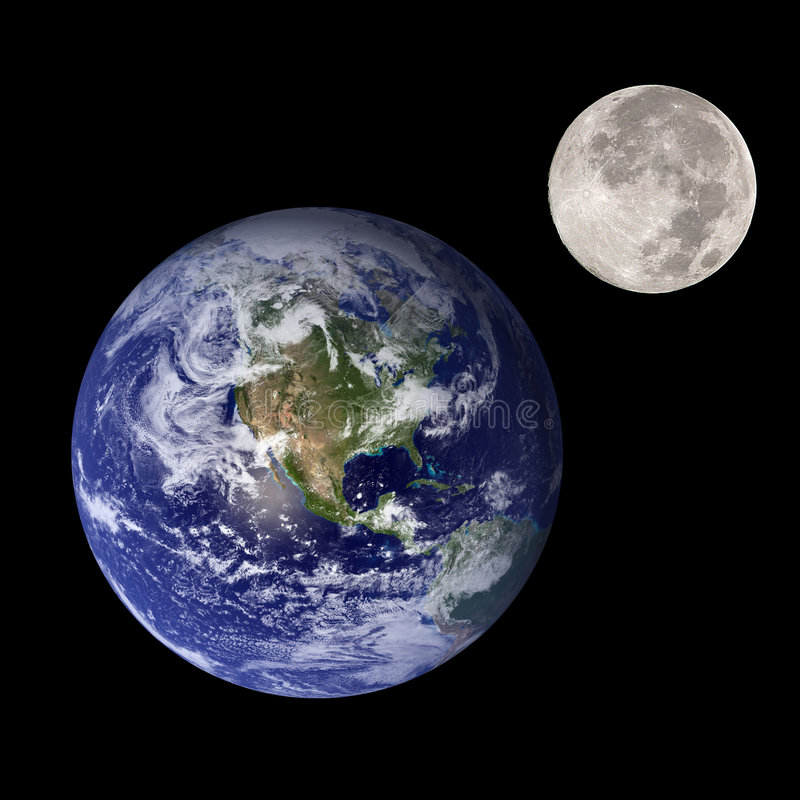 Free Earth And Moon Royalty Free Stock Image - 9092976