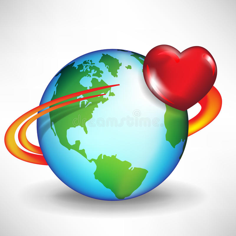Free Earth And Satellite Heart Stock Photos - 22439373