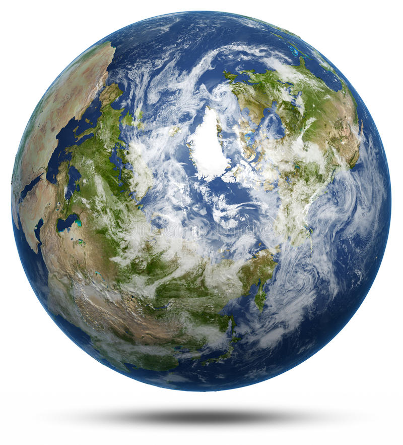 Download Earth - Arctic White Isolated Stock Illustration - Image: 42997153