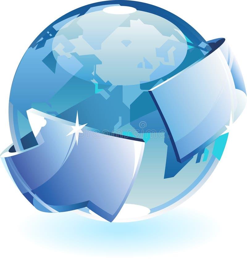 Earth and arrow stock illustration