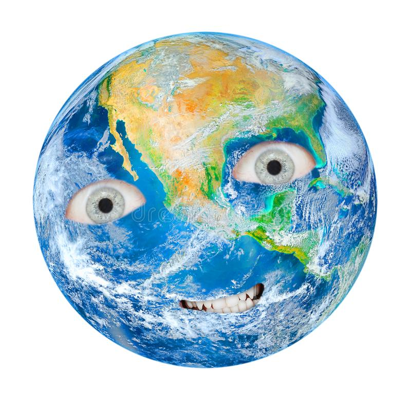 The Earth as a angry Gaia. stock image