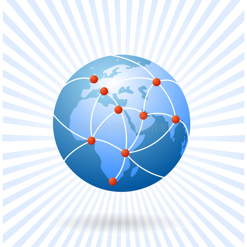 The earth as global network vector illustration