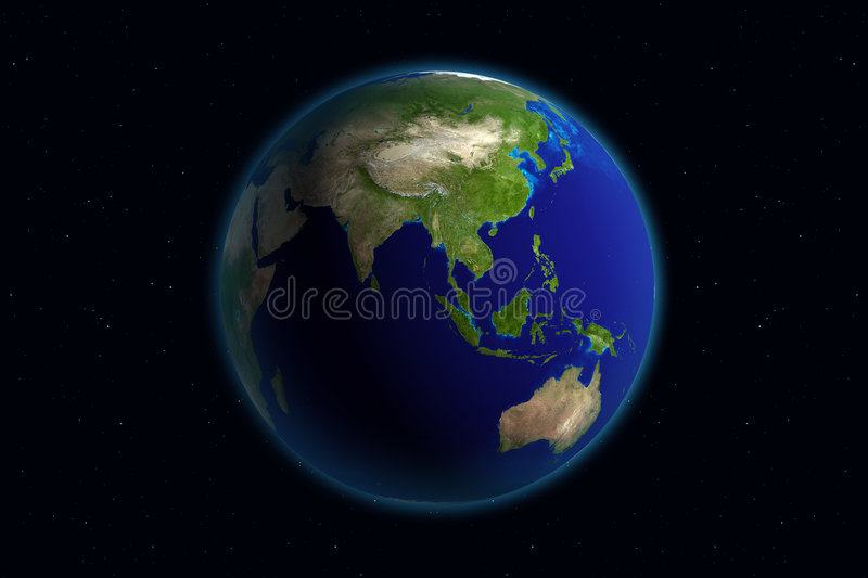 Download Earth - Asia stock illustration. Image of solar, flare - 1376351