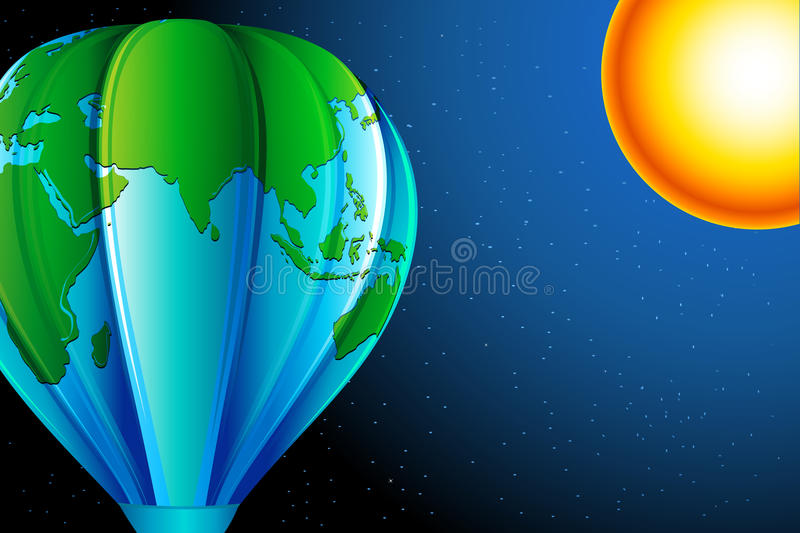 Download Earth Balloon stock illustration. Illustration of commerce - 19904733