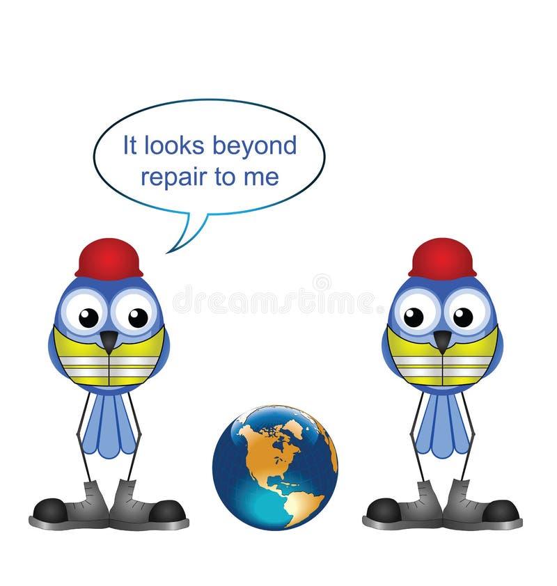 Download Earth beyond repair stock vector. Illustration of vest - 25998499