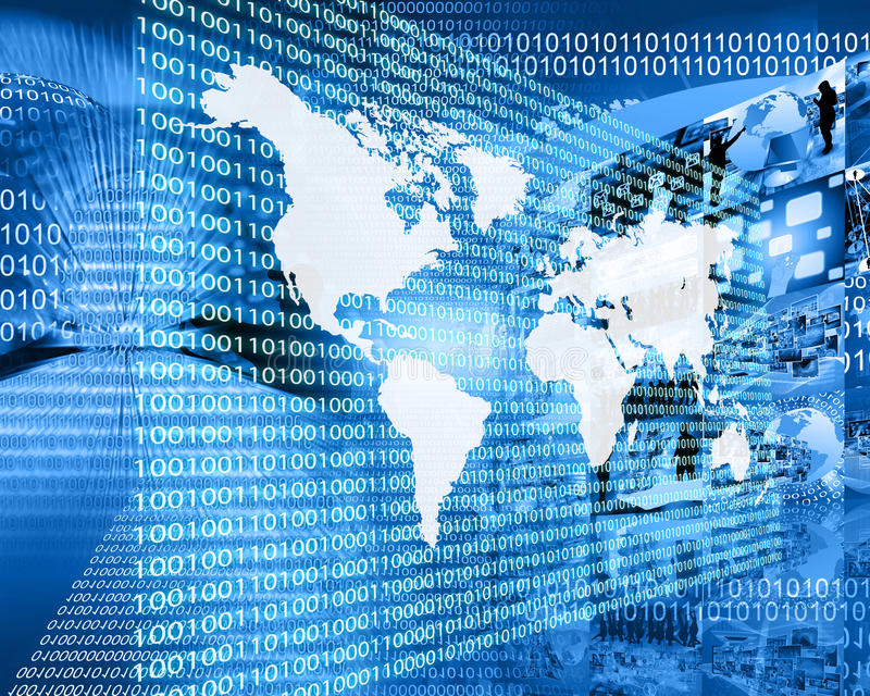 Download The Earth and binary code stock illustration. Image of data - 40450894