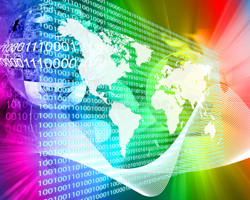 Download The Earth and binary code stock illustration. Image of connect - 40451162
