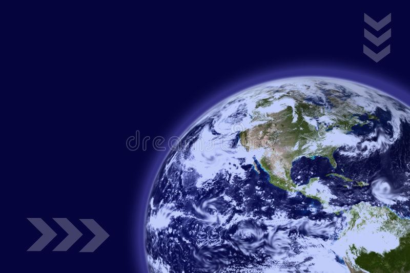 Earth With Blue Atmosphere stock image