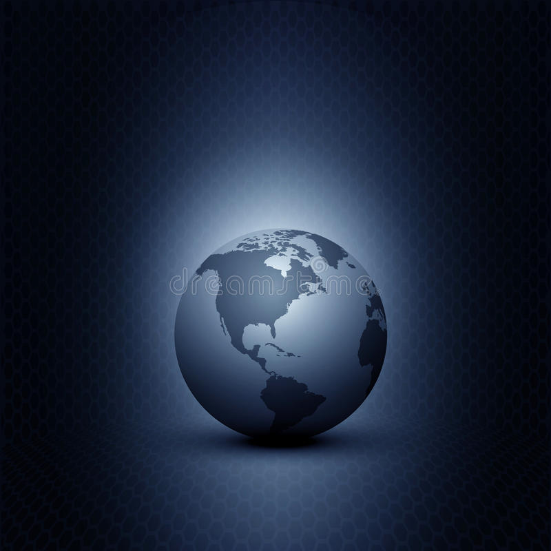 Earth On Blue Background Royalty Free Stock Photography