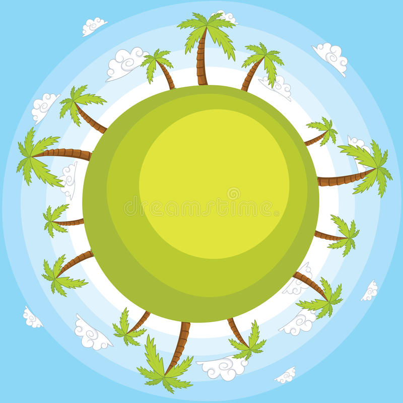 Download Earth With Blue Sky Vector Illustration Royalty Free Stock Photos - Image: 25427938