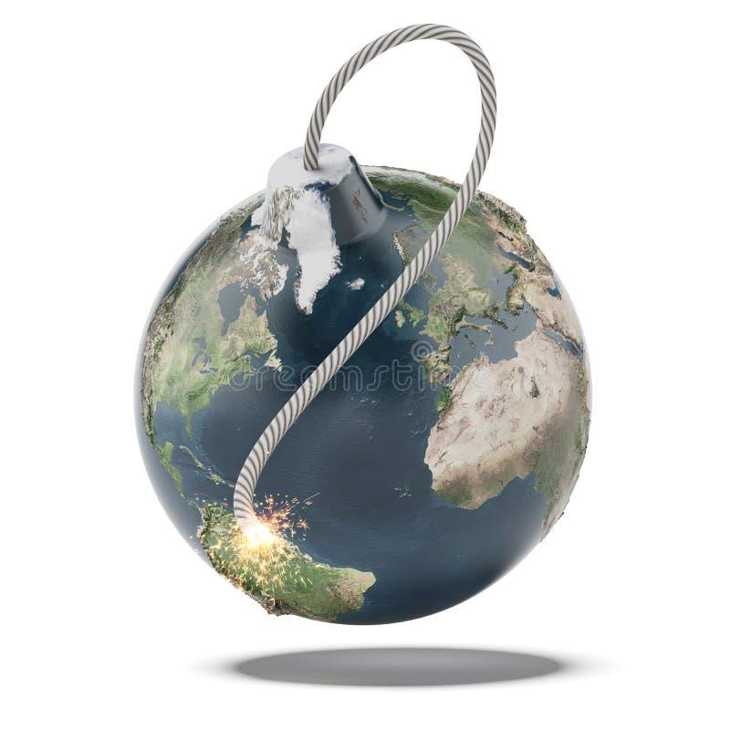 Earth bomb stock image