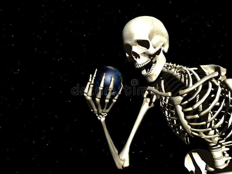 Download Earth And Bone stock illustration. Image of dead, atmosphere - 1249834
