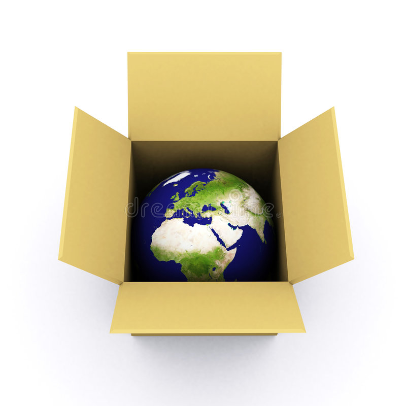 Download Earth in a box stock illustration. Image of internet, render - 1971495