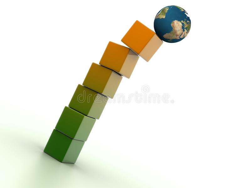 Download Earth On Boxes Stock Images - Image: 11463394