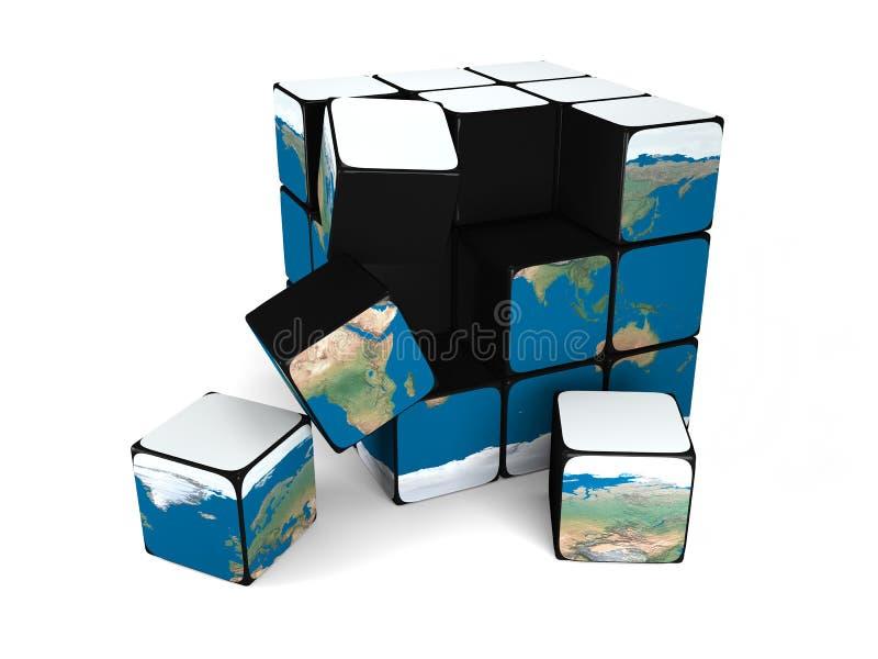 Download Earth Building Blocks Falling Stock Illustration - Image: 24782693