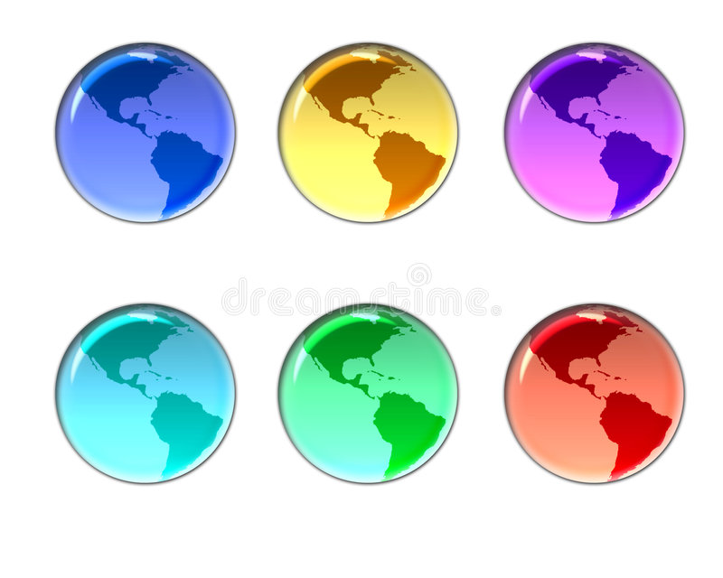 Earth buttons stock illustration