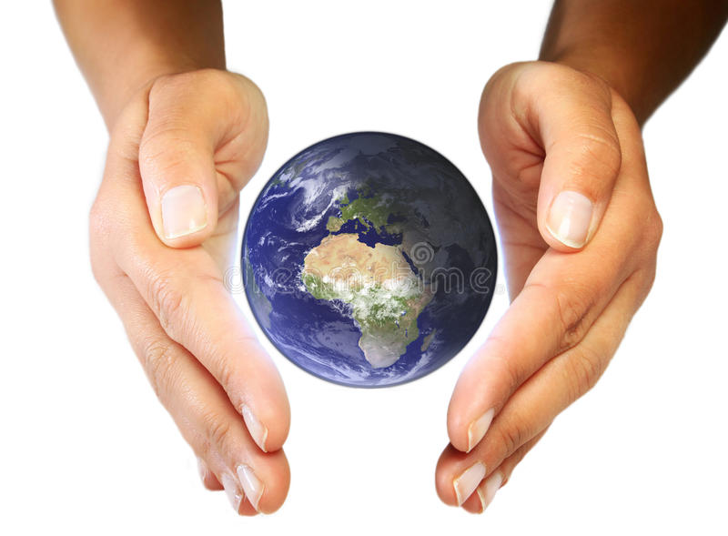 Download Earth care in your hands stock photo. Image of peace - 14520044