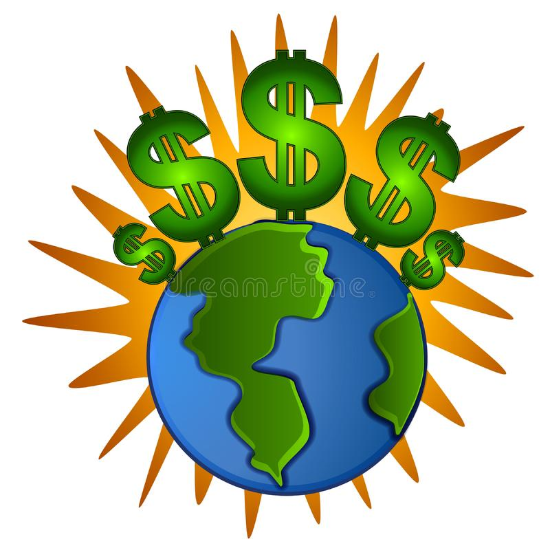 Earth Cash Dollar Signs Money Free Stock Photo