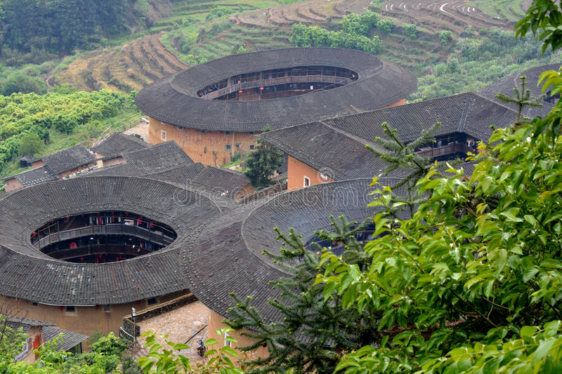 Download Earth Castle In Countryside Of Fujian Province, South China Stock Image - Image: 32047635
