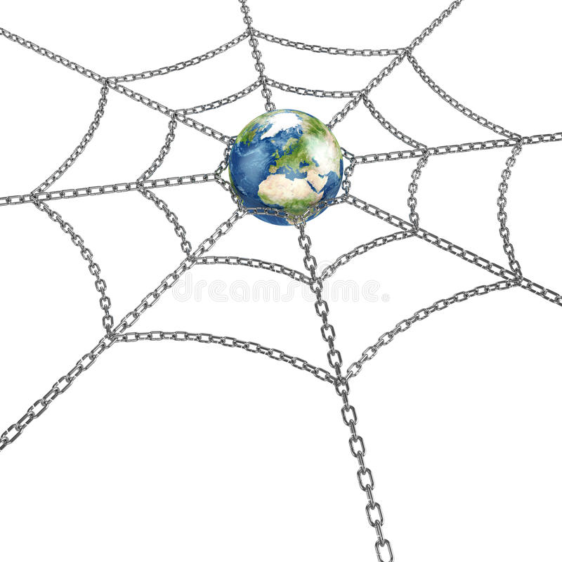 Download Earth With Chain Stock Images - Image: 23192594