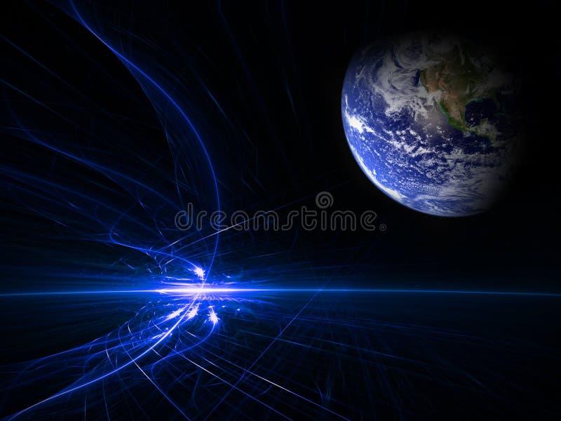 Earth chaos stock image