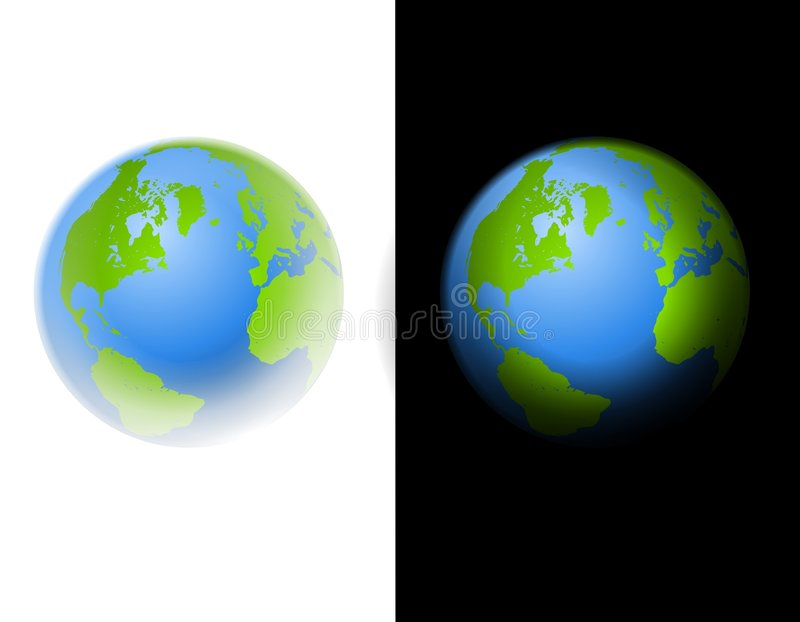 Earth Clip Art Illustration Black and White stock illustration