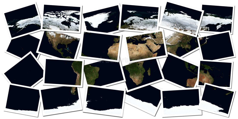 Earth Collage Stock Photos